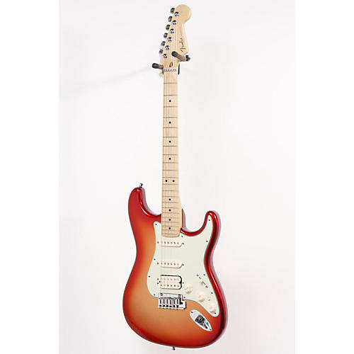 Fender American Deluxe Stratocaster HSS Electric Guitar Sunset Metallic 886830913273
