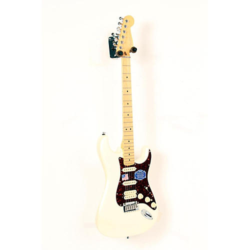 Fender American Deluxe Stratocaster HSS Electric Guitar Olympic Pearl, Maple Neck 888365366845