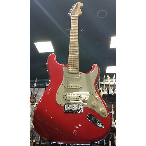 Fender American Deluxe Stratocaster HSS Solid Body Electric Guitar Chrome Red