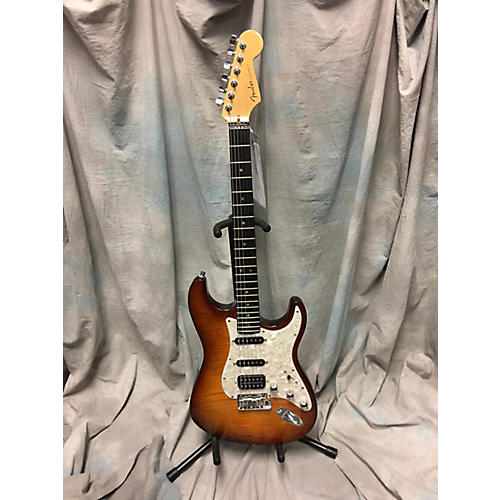Fender American Deluxe Stratocaster HSS Solid Body Electric Guitar-thumbnail