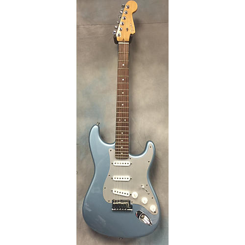 Fender American Deluxe Stratocaster Mystic Blue Solid Body Electric Guitar
