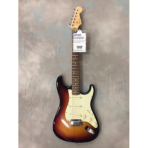 Fender American Deluxe Stratocaster SSS Usa Rw 3 Color Sunburst Solid Body Electric Guitar-thumbnail