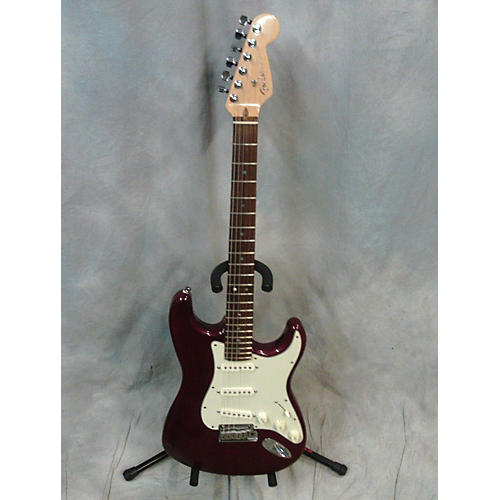 Fender American Deluxe Stratocaster Solid Body Electric Guitar Crimson Red Trans
