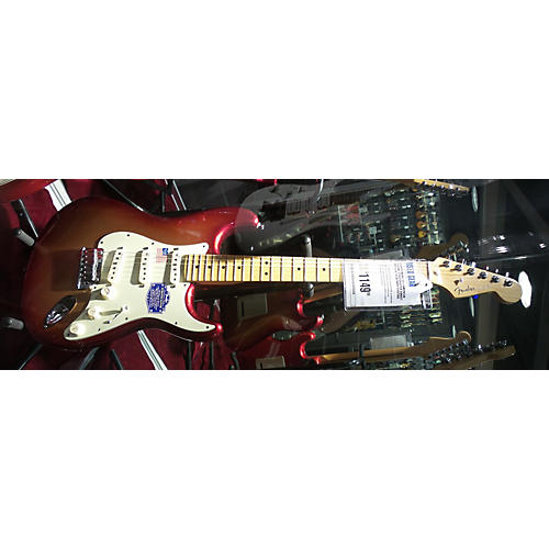 Fender American Deluxe Stratocaster Solid Body Electric Guitar SUNSET METALIC
