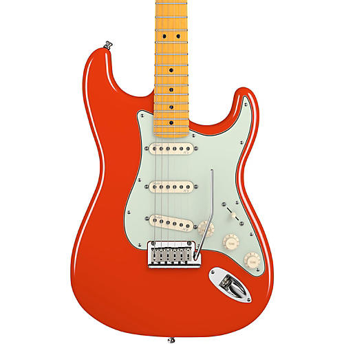 Fender American Deluxe Stratocaster V Neck Electric Guitar Fiesta Red Maple Fretboard