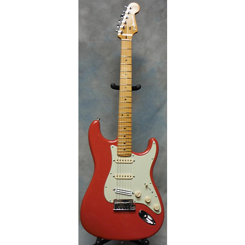Fender American Deluxe Stratocaster V Neck Solid Body Electric Guitar-thumbnail