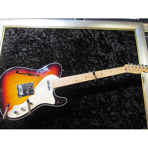 Fender American Deluxe Telecaster Thinline 3 Tone Sunburst Hollow Body Electric Guitar