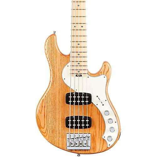 Fender American Elite Dimension Bass V HH, Maple, Electric Bass Guitar Natural