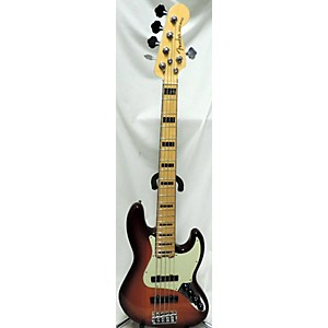 Pre-owned Fender American Elite Jazz Bass 5 String Electric Bass Guitar by Fender
