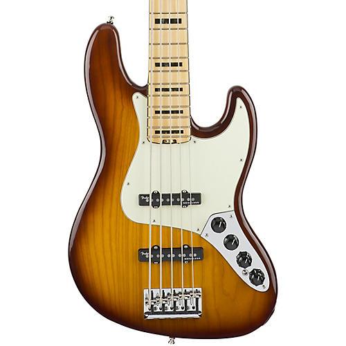 fender american elite jazz bass v maple electric bass guitar tobacco sunburst guitar center. Black Bedroom Furniture Sets. Home Design Ideas