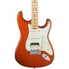 American Elite Stratocaster HSS Shawbucker Maple Fingerboard Electric Guitar Autumn Blaze Metallic