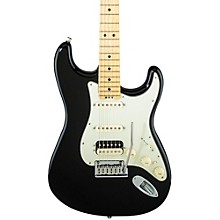 American Elite Stratocaster HSS Shawbucker Maple Fingerboard Electric Guitar Mystic Black