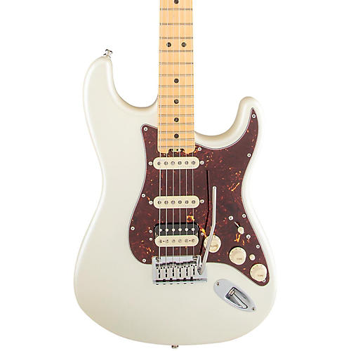 Fender American Elite Stratocaster HSS Shawbucker Maple Fingerboard Electric Guitar Olympic Pearl