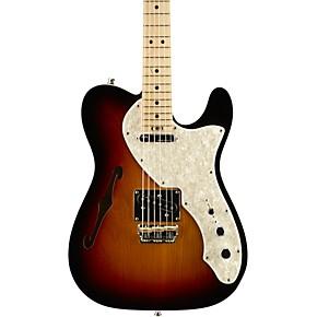 fender american elite telecaster thinline maple fingerboard electric guitar mystic blue guitar. Black Bedroom Furniture Sets. Home Design Ideas