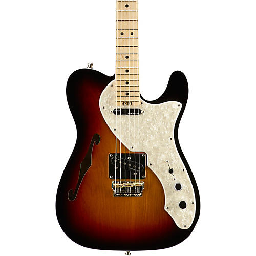 Fender American Elite Telecaster Thinline Maple Fingerboard Electric Guitar-thumbnail