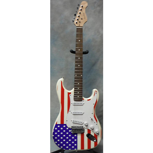 Main Street American Flag Double Cut Solid Body Guitar Solid Body Electric Guitar