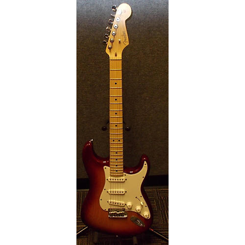 Fender American Nitro Satin Stratocaster 3 Color Sunburst Solid Body Electric Guitar-thumbnail