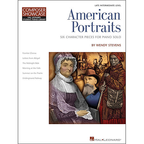 Hal Leonard American Portraits - Six Character Pieces for Piano Solo - Composer Showcase Intermediate