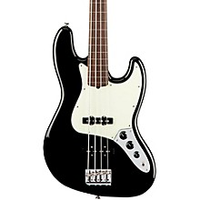 American Professional Fretless Jazz Bass Rosewood Fingerboard Black