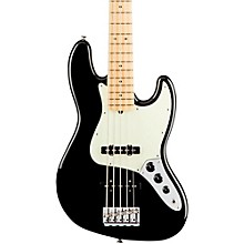 American Professional Jazz Bass V Maple Fingerboard Black