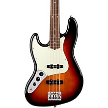 American Professional Left-Handed Jazz Bass Rosewood Fingerboard 3-Color Sunburst