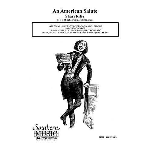 Hal Leonard American Salute (Choral Music/Octavo Secular Ttb) TTB Composed by Riley, Shari