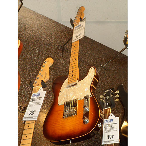 Used fender american select flame maple carved top