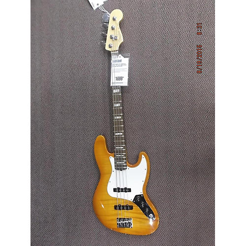 Fender American Select Jazz Bass Amber Burst Electric Bass Guitar-thumbnail