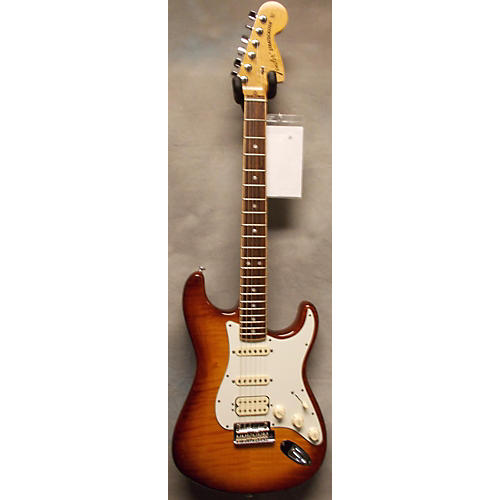 Fender American Select Stratocaster Exotic Flame Maple Top Sunburst Solid Body Electric Guitar-thumbnail