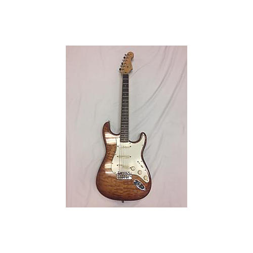 Fender American Select Stratocaster Exotic Quilt Maple Top Solid Body Electric Guitar-thumbnail