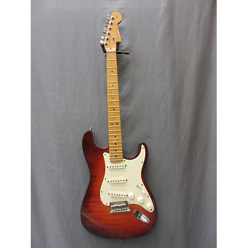 Fender American Select Stratocaster Solid Body Electric Guitar Honey Burst