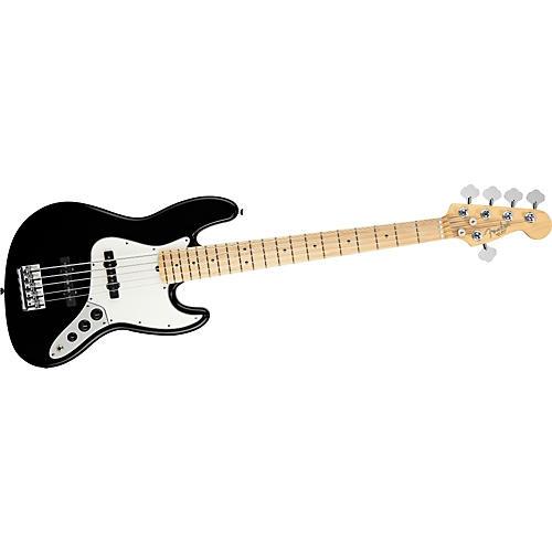 Fender American Standard 5-String Jazz Bass V Black Maple Fretboard