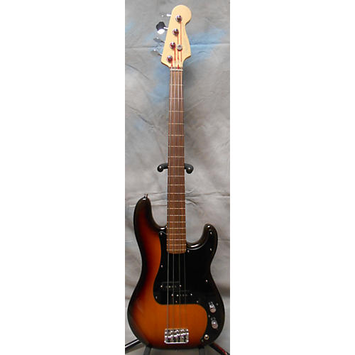 Fender American Standard Fretless P Bass 3 Tone Sunburst Electric Bass Guitar