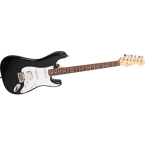 Fender American Standard HSS Stratocaster Electric Guitar Black Rosewood Fretboard