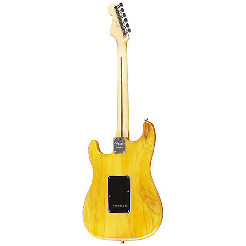 Fender American Standard Hand-Rubbed Ash Stratocaster HSH Electric Guitar Amber Stain Rosewood Fingerboard