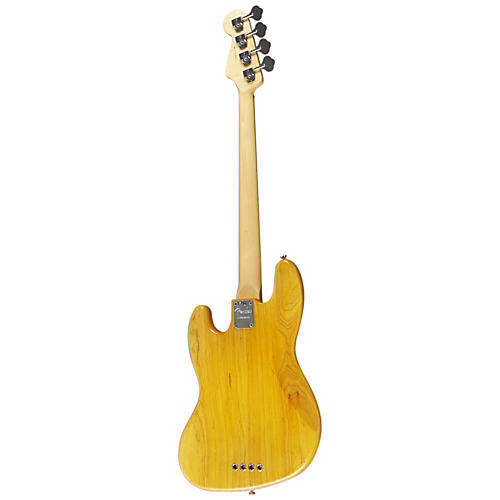 Fender American Standard Hand-Stained Ash Jazz Bass Amber Stain Rosewood Fingerboard