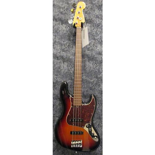 Fender American Standard Jazz Bass Fretless 3 Tone Sunburst Electric Bass Guitar-thumbnail
