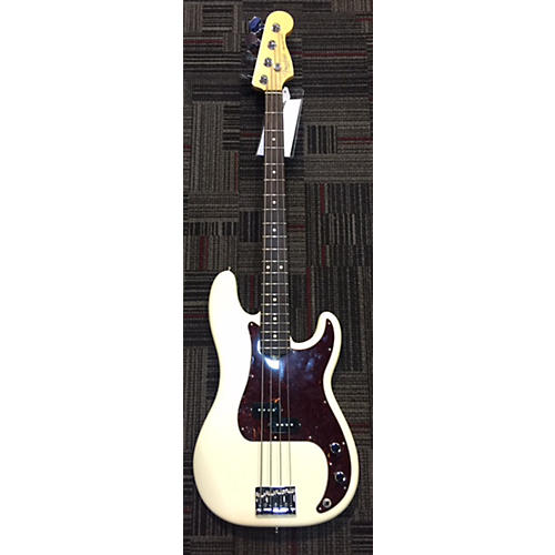 Fender American Standard Precision Bass Electric Bass Guitar Olympic White