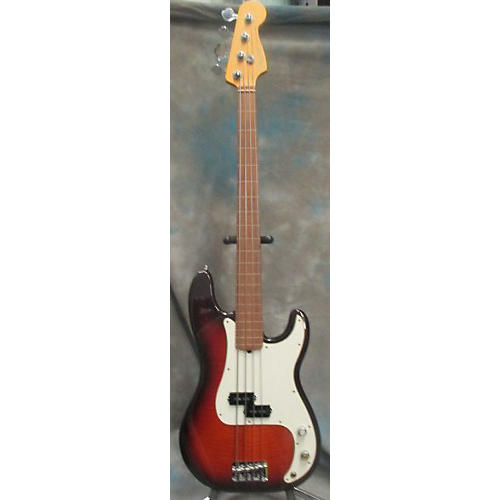 Fender American Standard Precision Bass Fretless 50th Anniversary Electric Bass Guitar-thumbnail
