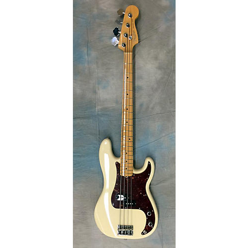 Fender American Standard Precision Bass Olympic White Electric Bass Guitar-thumbnail