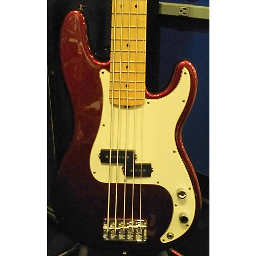 Fender American Standard Precision Bass V 5 String Electric Bass Guitar Chrome Red