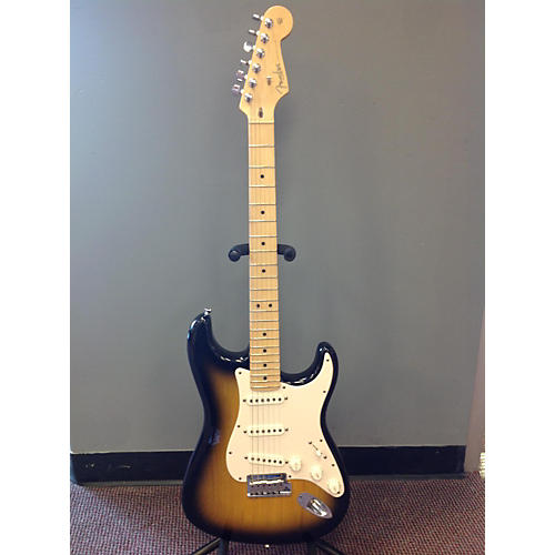 Fender American Standard Stratocaster 50th Anniversary 2 Color Sunburst Solid Body Electric Guitar-thumbnail