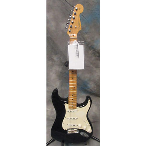 Fender American Standard Stratocaster Black And White Solid Body Electric Guitar