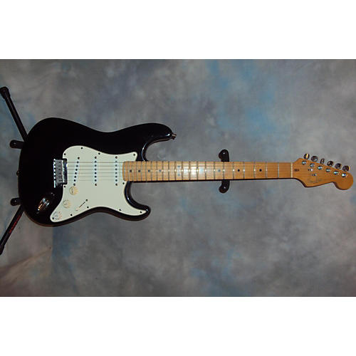 used fender american standard stratocaster black solid body electric guitar black guitar center. Black Bedroom Furniture Sets. Home Design Ideas