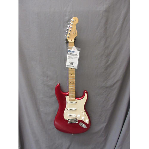 Fender American Standard Stratocaster Candy Apple Red Solid Body Electric Guitar-thumbnail