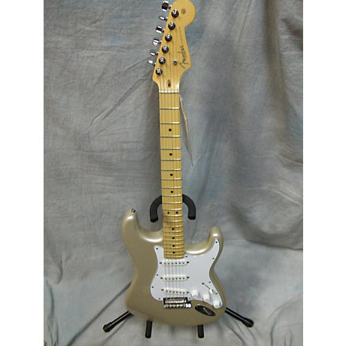 Fender American Standard Stratocaster Champagne Solid Body Electric Guitar-thumbnail