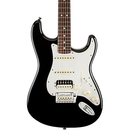 Fender American Standard Stratocaster HSS Shawbucker Rosewood Fingerboard Electric Guitar Black