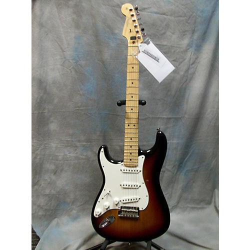 Fender American Standard Stratocaster Left Handed 3 Color Sunburst Electric Guitar-thumbnail