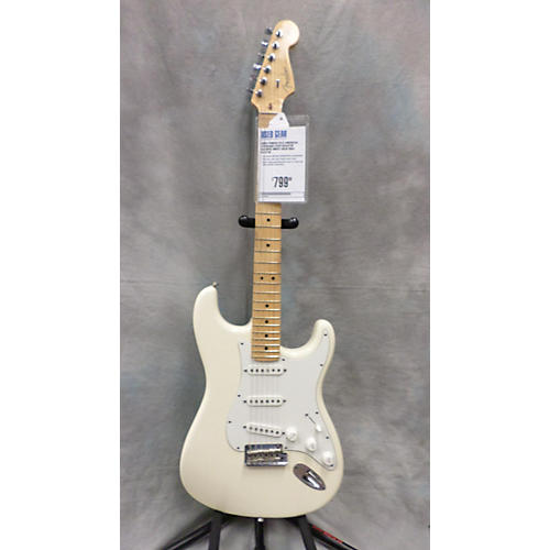 Fender American Standard Stratocaster Olympic White Solid Body Electric Guitar-thumbnail