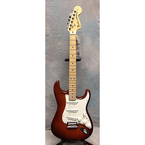 used fender american standard stratocaster solid body electric guitar honey burst nitro guitar. Black Bedroom Furniture Sets. Home Design Ideas